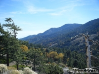 Looking down Swarthout Valley with Wright Mountain and Blue Ridge along the right. - Wrightwood CA Mountains