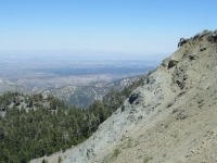 Face of the landslide of Wright Mountain - Wrightwood CA Mountains