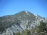 Pine Mountain, as viewed from the backside of Wright Mountain, near the North Backbone Trail head. - Wrightwood CA Mountains