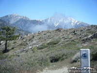 Pine Mountain (left), and Mt Baldy (right) above the Pacific Crest Trail (PCT) - Wrightwood CA Mountains