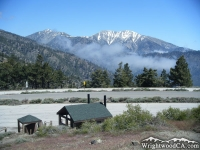Pine Mountain (left) and Mt Baldy (right) with Inspiration Point in the foreground.  - Wrightwood CA Mountains