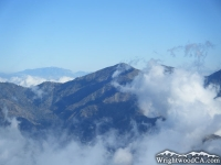 Clouds approaching Pine Mountain, as viewed from Mt Baden Powell - Wrightwood CA Mountains