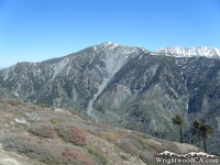 Pine Mountain as viewed from Blue Ridge near Guffy Campground - Wrightwood CA Mountains