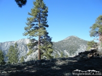 Dawson Peak (left) and Pine Mountain (right) from backside of Wright Mountain - Wrightwood CA Mountains