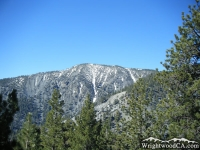 Dawson Peak as viewed from backside of Wright Mountain - Wrightwood CA Mountains
