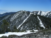 Dawson Peak as viewed from Pine Mountain - Wrightwood CA Mountains