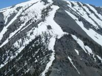 North ridge line of Mt Baldy (Mt San Antonio) - Wrightwood CA Mountains