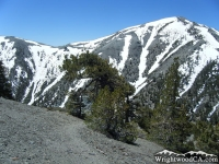 North ridge of Mt Baldy from the North Backbone Trial on Dawson Peak - Wrightwood CA Mountains