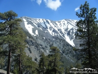 North face of Mt Baldy as viewed from Dawson Peak Trail - Wrightwood CA Mountains