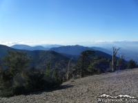 San Gabriel Mountains viewed from the top of Mt Baden Powell - Wrightwood CA Mountains