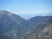 Mt Baden Powell (left) and Vincent Gap (below to the right) - Wrightwood CA Mountains