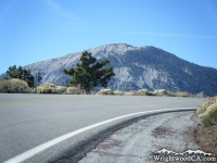 Highway 2 at Inspiration Point in front of Mt Baden Powell - Wrightwood CA Mountains