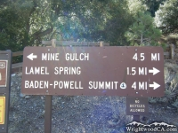 Mt Baden Powell Trail head at Vincent Gap - Wrightwood CA Mountains