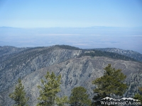 South face of Blue Ridge viewed from North Backbone Trail - Wrightwood CA Mountains