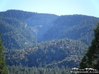 Landslide of Wright Mountain on Blue Ridge - Wrightwood CA Mountains