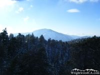Mt Baden Powell in distance, peaking over Blue Ridge - Wrightwood CA Mountains