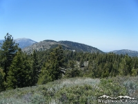 Looking down Blue Ridge from the top of Wright Mountain - Wrightwood CA Mountains
