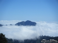 Iron Mountain peaking above the clouds - Wrightwood CA Mountains