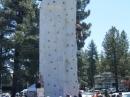 Rock Climbing wall at Wildfire Awareness Day. - Wrightwood CA Photos