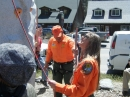 Wrightwood / Phelan Search and Rescue (WPSAR) helping with the climbing wall. - Wrightwood CA Photos