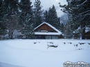 Another cabin in Wrightwood after a snowfall.