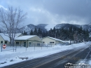 Wrightwood Elementary School in front of Wright Mountain and Blue Ridge. - Wrightwood CA Photos