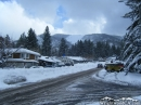 Downtown Wrightwood in front of Wright Mountain after a Winter storm. - Wrightwood CA Photos