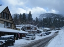 Businesses on Park Drive in Wrightwood after Winter storm. - Wrightwood CA Photos
