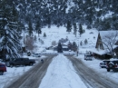 Looking down Park Drive toward Highway 2 after big Snow storm. - Wrightwood CA Photos