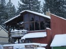 Village Grind Coffee Shop in Wrightwood after Snow storm. - Wrightwood CA Photos
