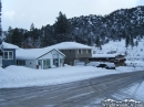 Businesses on Cedar Street in Wrightwood after Winter Storm. - Wrightwood CA Photos