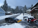 Clearing snow in front of Village Video in Wrightwood. - Wrightwood CA Photos