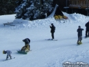 Snowboarders preparing to head down the groomed slopes of Mountain High. - Wrightwood CA Photos
