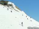 Snow Players coming down hillside. - Wrightwood CA Photos