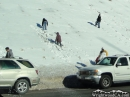 More Snow Players on Highway 138 - Wrightwood CA Photos