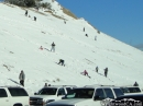 Sledding into the Highway sounds like a safe idea... right? - Wrightwood CA Photos