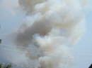 Plume on smoke just below Circle Mountain during Sheep Fire. - Wrightwood CA Photos