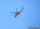 Helicopter flying over Wrightwood during Sheep Fire of 2009. - Wrightwood CA Photos