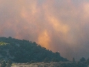 Sheep Fire just behind Circle Mountain, toward top of Lone Pine Canyon. - Wrightwood CA Photos