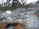 Heath Creek wash flooded out with mud in December 2010. - Wrightwood CA Photos
