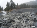 Lone Pine Canyon Road covered in Mud, December 2010. - Wrightwood CA Photos