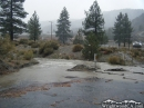 Bottom of Cardinal Road during heavy rain in December 2010. - Wrightwood CA Photos
