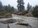 Mud running through Wrightwood in December 2010. - Wrightwood CA Photos