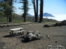 Iron Mountain in background of campsite in Guffy Campground during Summer - Wrightwood CA Photos