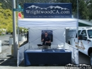 Ryan and the WrightwoodCA.com booth at Mountaineer Days 2011 - Wrightwood CA Photos