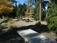Picnic Tables in Arch Picnic Area - Wrightwood CA Mountains