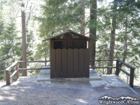 Restroom in Arch Picnic Area - Wrightwood CA Mountains