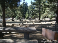 Stove and table in Grassy Hollow Picnic Area - Wrightwood CA Mountains