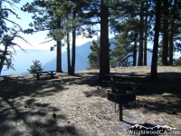 Grassy Hollow Picnic Area with view of Mt Baden Powell in background - Wrightwood CA Mountains