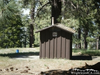 Restroom at Table Mountain Picnic Area - Wrightwood CA Mountains